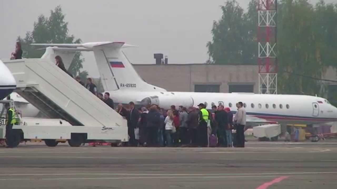 Ижавиа   взлет самолета   Ижевск - YouTube