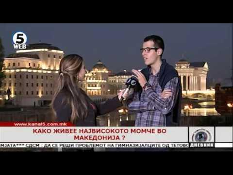 Како живее највисокото момче во Македонија ?