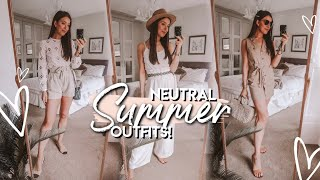 What I WORE In A WEEK | (Mostly) NEUTRAL SUMMER OUTFIT INSPIRATION 2019
