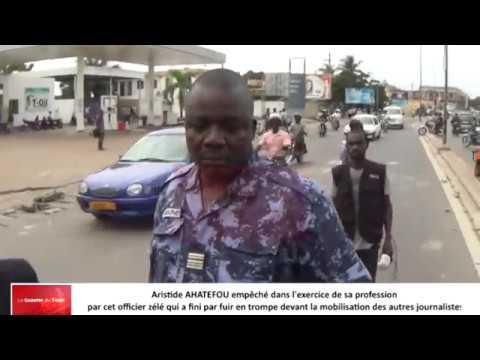 Qu'est-ce qui justifie l'acharnement de cet officier sur le journaliste Aristide AHATEFOU ?