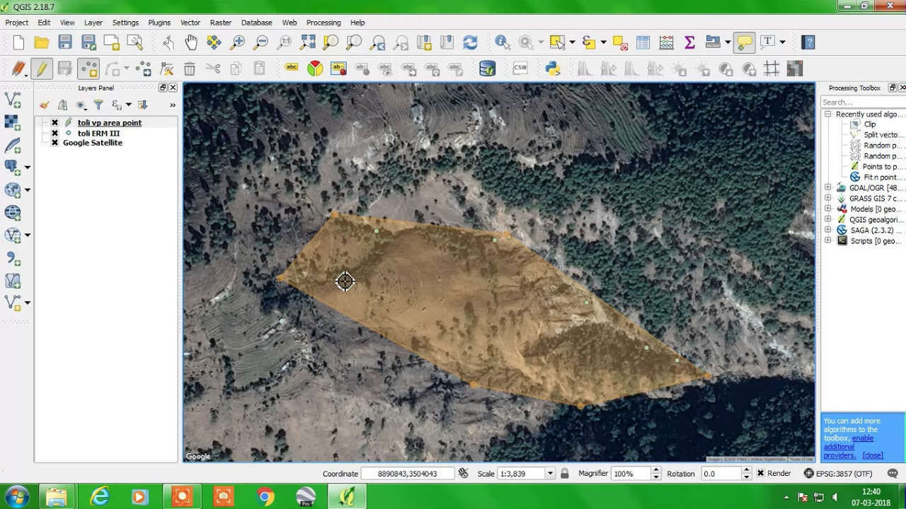 How to digitize online in QGIS
