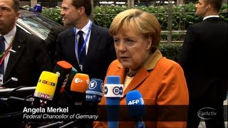 Angela Merkel Arrives at the European Council Summit - October 2012