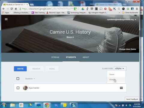Google Classroom Tutorials: #5 The Students/Classmates Tab Old