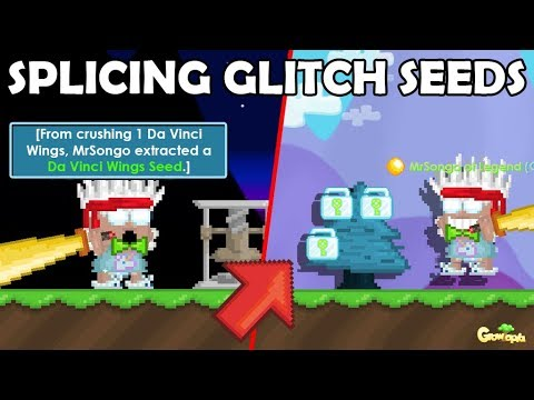 SPLICING WORLD LOCK SEEDS [GLITCH] + CRUSHING CLOTHES!! | GrowTopia