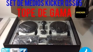 SET DE MEDIOS KICKER QS ( TOPE DE GAMA ) CAR AUDIO - HD