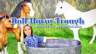 diy how to make doll horse trough   container pond   container garden handmade doll crafts