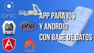 Crear aplicación para iPhone y Android con bases de datos [ Ionic+CodeIgniter ]
