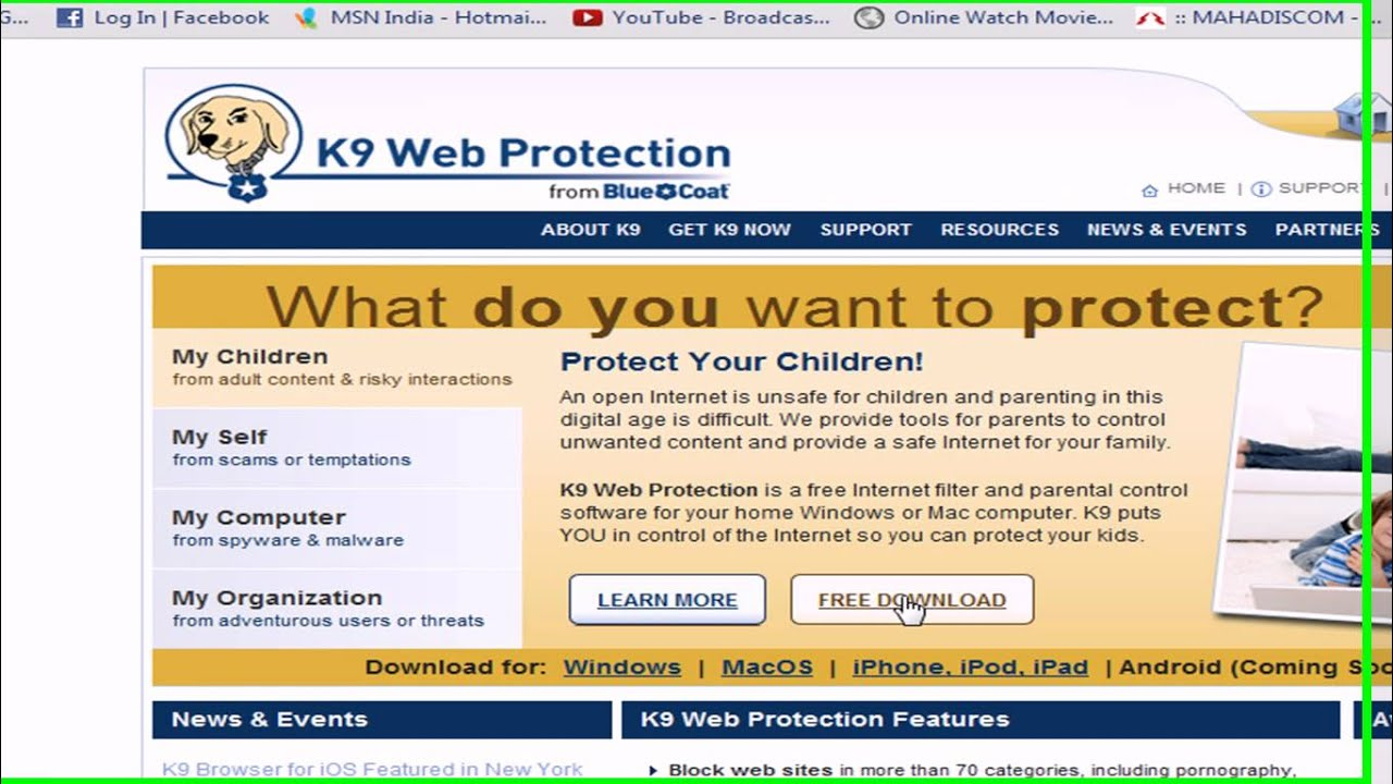 get k9 web protection free download