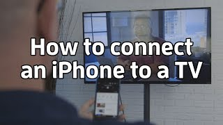 How To Connect An Iphone To A Tv Youtube