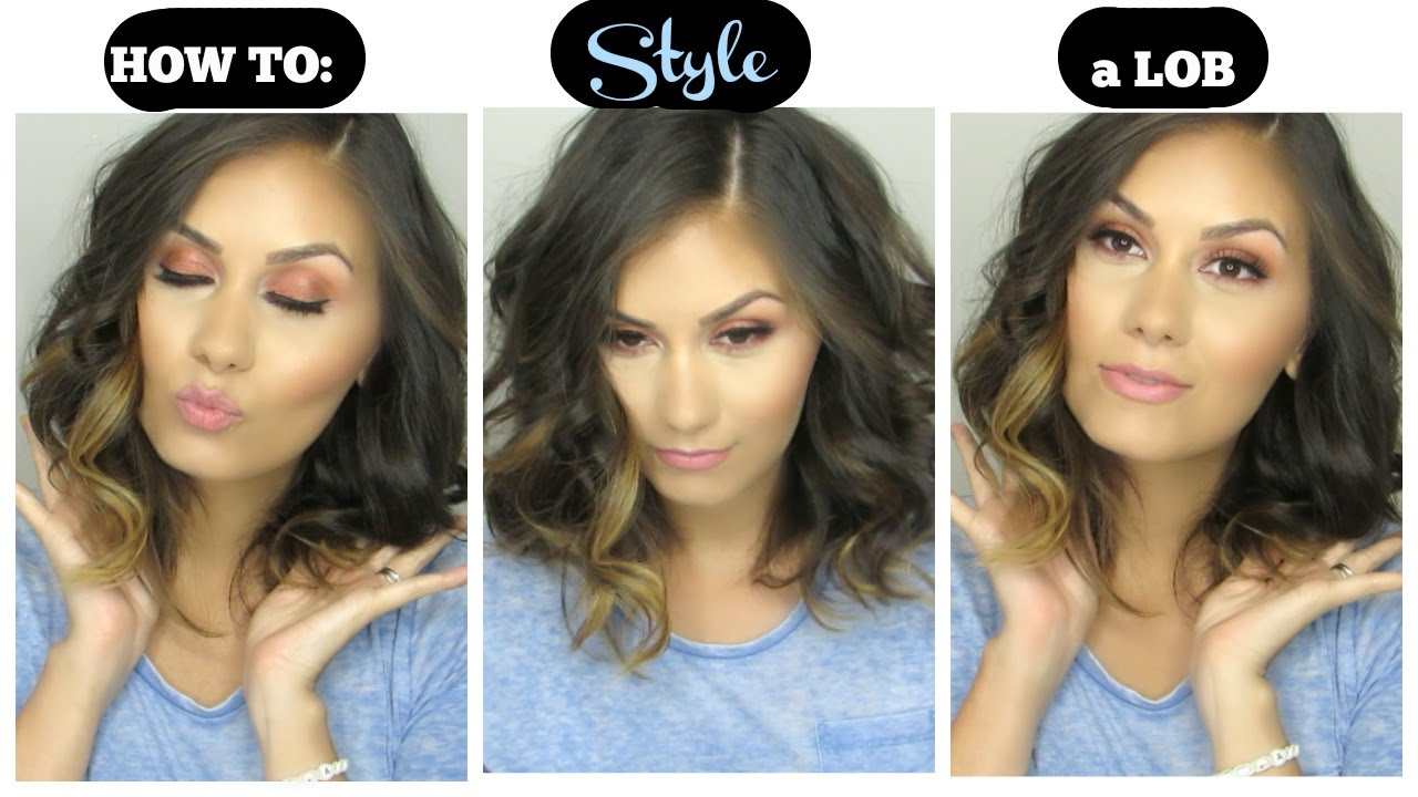 how to style lob hair how to style a lob bob hair tutorial 7002