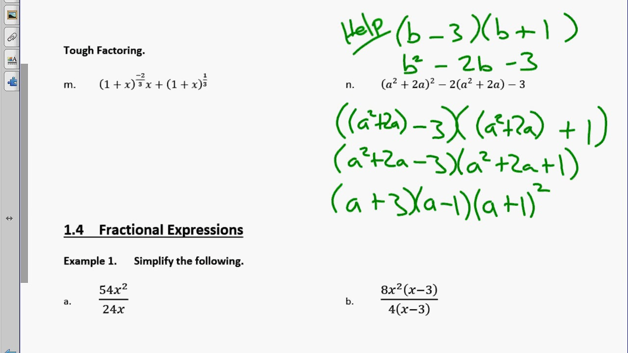 factoring algebraic expressions
