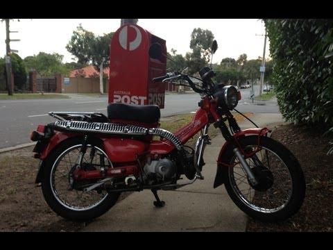 Postie Bike Review! Honda CT110! Australia Post Bike!