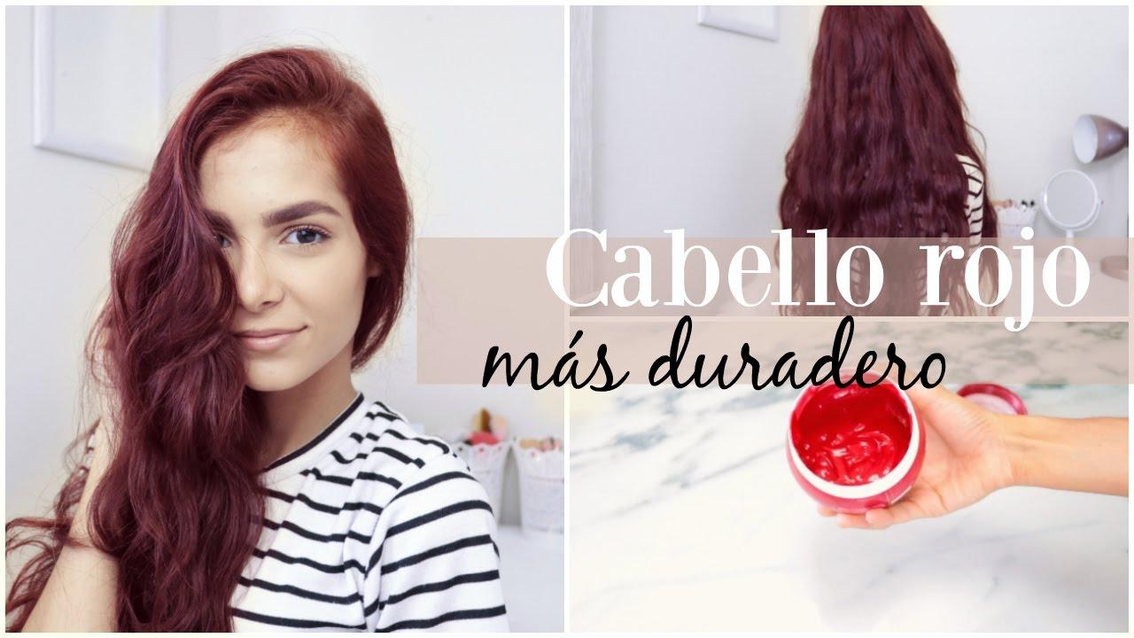 tratamiento para el cabello tinturado de rojo