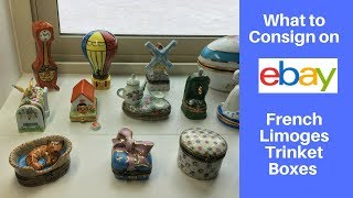 What to Consign on eBay - French Limoges Trinket Boxes