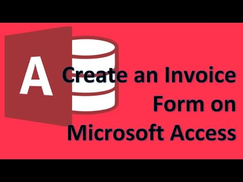 Microsoft Access 05 Create A Form For Invoices Youtube