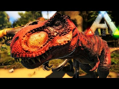 ARK Survival Evolved - NEW EPIC LOOKING REX, BIPEDAL SPINO & NEW DINO ( Gameplay )