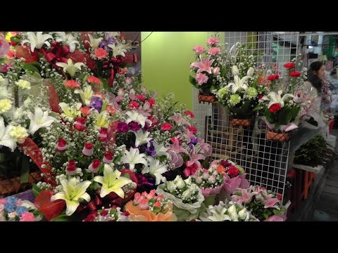 Baśniowa Tajlandia. Pak Klong Talad - targ kwiatowy w Chinatown. Bangkok. ปากคลองตลาด