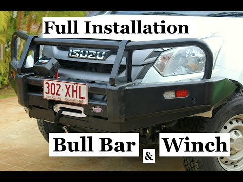 Isuzu Dmax, BULL BAR & WINCH full installation. Takes a day and a bit in the man shed. Wayne Groomes