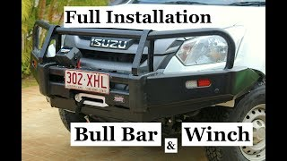 Isuzu Dmax, BULL BAR & WINCH, full installation