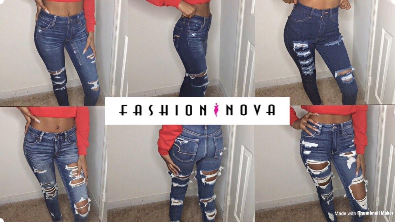 21baee776f Fashion Nova Jean Try On Haul  Skinny Girl Approved! +American Eagle Jeans