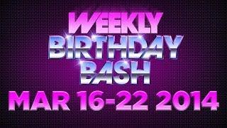 Celebrity Actor Birthdays - March 16-22, 2014 HD