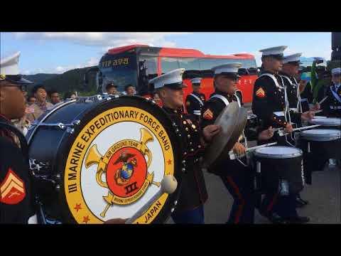 USMC Drum Battle: III Marine Expeditionary Force (III MEF) Band vs   Republic of Korea Army Band