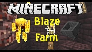 Auto and Semi-Auto Blaze Farm Minecraft Tutorial (Works in 1.8)