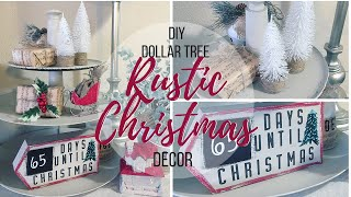 DIY DOLLAR TREE RUSTIC CHRISTMAS DECOR | CHRISTMAS COUNTDOWN SIGN