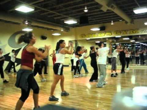 "Tari Mannello Dance Choreography to Usher, ""Bad Girl"" at Gold's Gym, 2003"