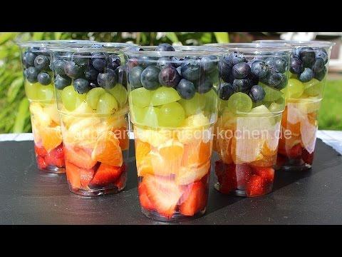 Fruit Salad to go mit Zitrus-Dressing- frischer Sommer-Snack