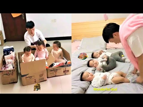 Wonderful father and lovely children