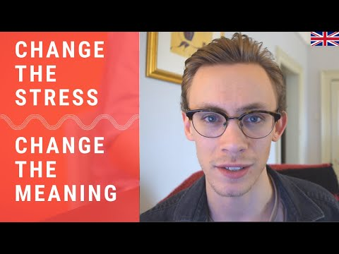 Changing Words With Syllable Stress - British English