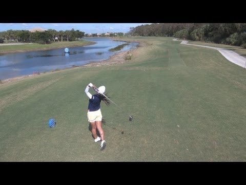 GOLF SWING 2012 - AI MIYAZATO DRIVER - ELEVATED DOWN THE LINE & SLOW MOTION - HQ 1080p HD