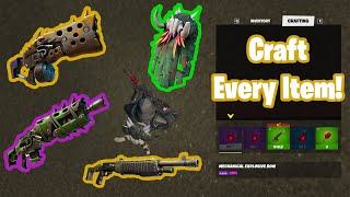 How to Craft EVERY Item and Weapon in Fortnite Season 6
