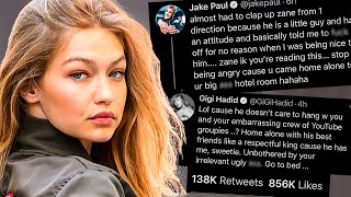 Jake Paul DRAGGED by Gigi Hadid because of this...