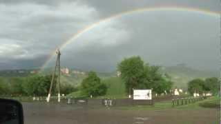 Двойная радуга над памятником.flv