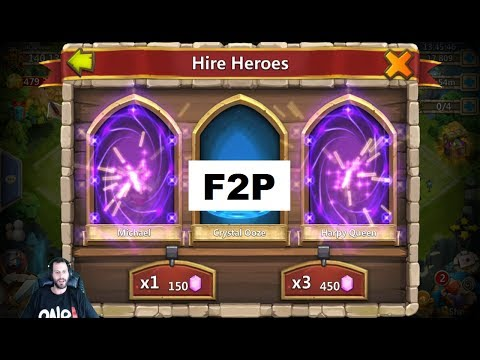 30k Free 2 Play Gems Hire Heroes & WIn BIG BOY Event Castle Clash
