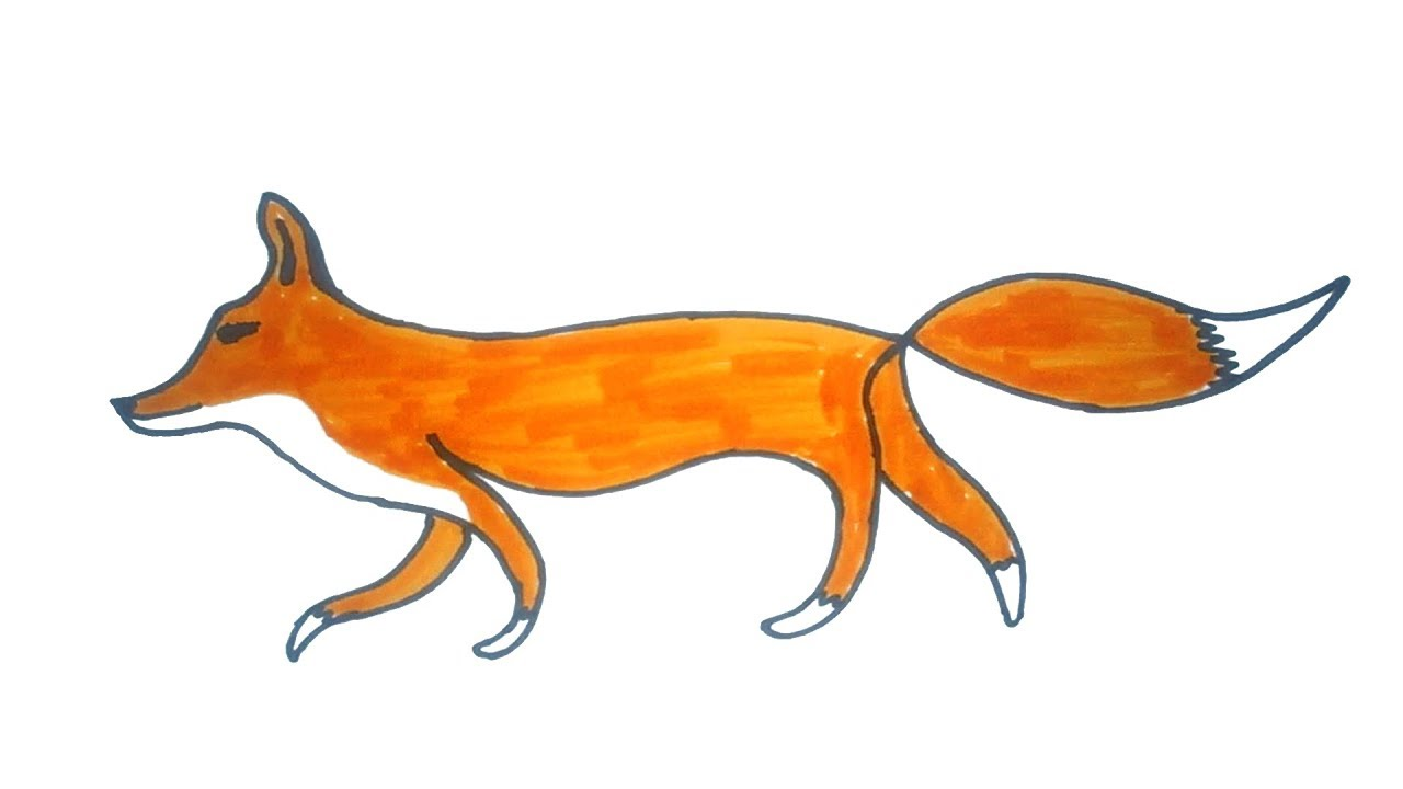 Fox easy. Drawing how to draw