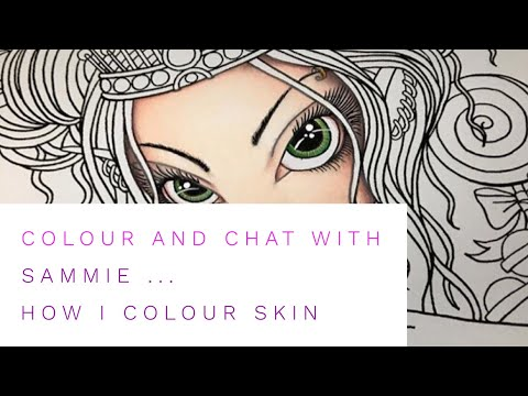 Colour with me - Colouring skin with Prismacolor pencils (Tutorial step by step) PART 1
