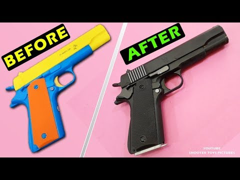 How to Repaint a Toy Gun | Coloring Toy Pistol Colt M1911 | Best way for Colouring Toys
