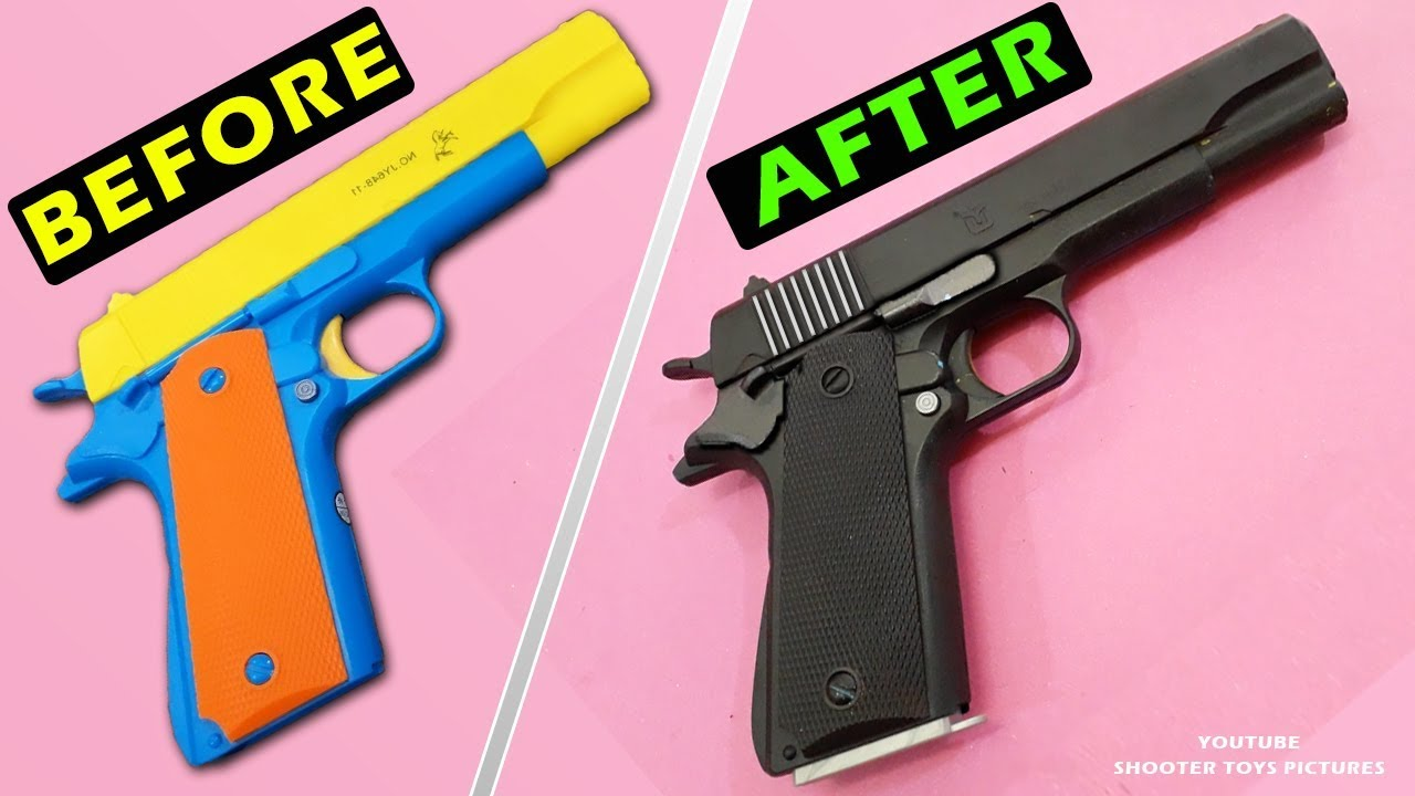 How To Repaint A Toy Gun Coloring Toy Pistol Colt M1911 Best Way For Colouring Toys