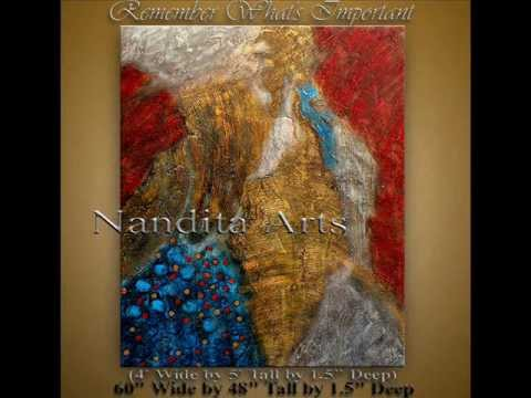 Texture Art large modern art original painting created by Nandita Albright
