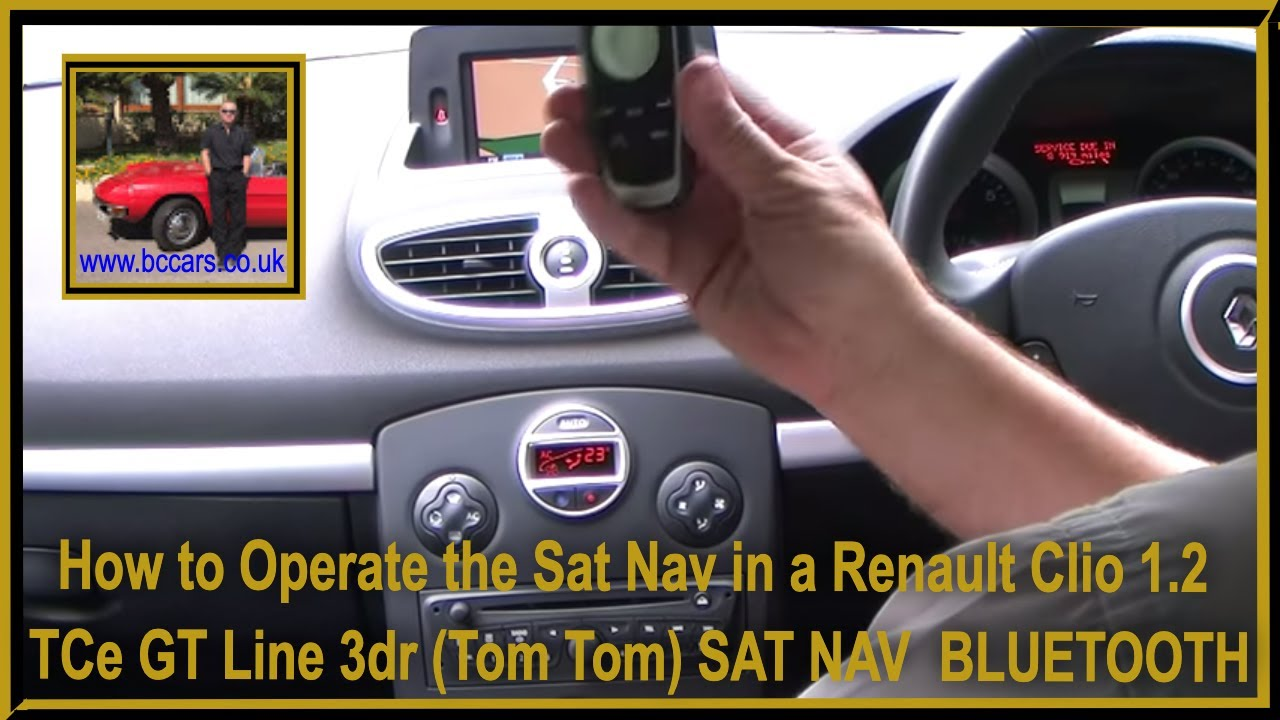 how to operate the sat nav in a renault clio 1 2 tce gt line 3dr tom tom sat nav bluetooth. Black Bedroom Furniture Sets. Home Design Ideas