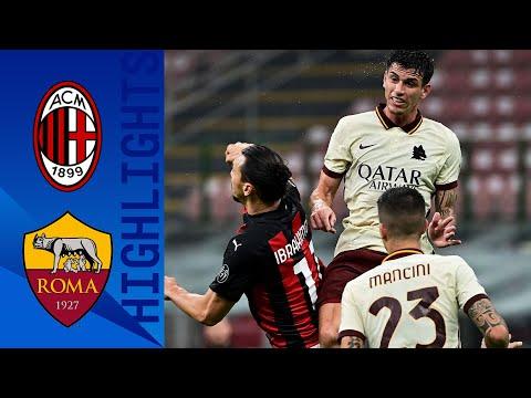 Milan 3-3 Roma | Pari e spettacolo, Ibra e Dzeko non bastano | Serie A TIM