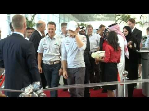 EMC hosts Mercedes GP PETRONAS F1 drivers at opening of historic Airport Road showroom