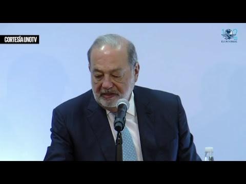 Conferencia a medios de Carlos Slim
