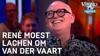René moest lachen om Van der Vaart bij Studio Voetbal