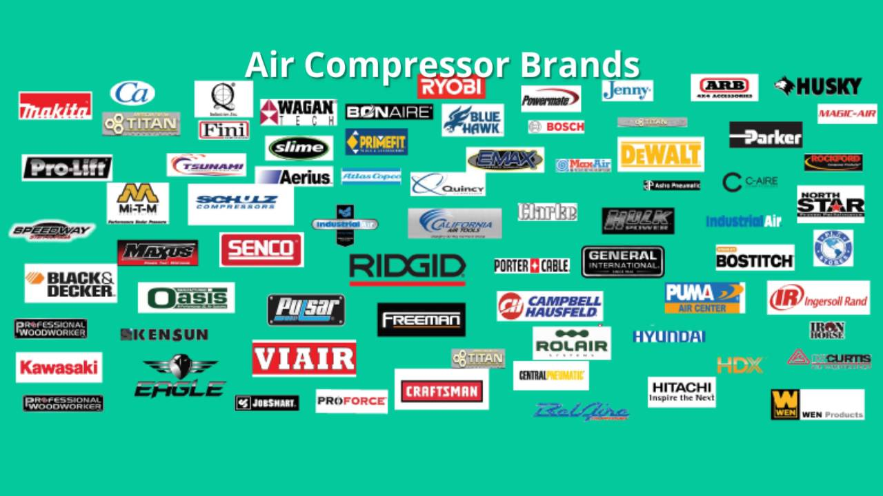 The Most Complete List Of Air Compressor Brands Youtube