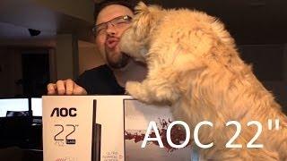 aoc i2269vw 22 inch screen led lit monitor