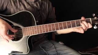 Como Tocar la Cancion de Pearl Jam - Just Breathe - Tutorial de Guitarra Acustica - Fingerpicking
